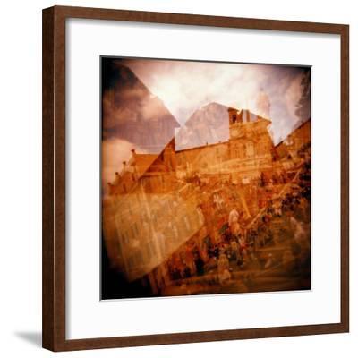 Montage of the Spanish Steps, Rome, Italy-Nancy & Steve Ross-Framed Photographic Print