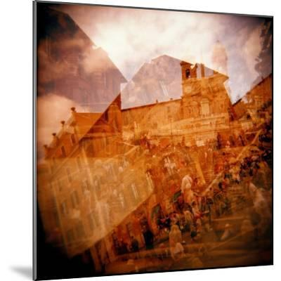 Montage of the Spanish Steps, Rome, Italy-Nancy & Steve Ross-Mounted Photographic Print