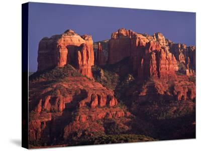 Cathedral Rock at Sunset, Sedona, Arizona, USA-Charles Sleicher-Stretched Canvas Print
