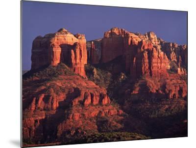 Cathedral Rock at Sunset, Sedona, Arizona, USA-Charles Sleicher-Mounted Photographic Print