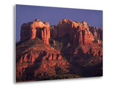 Cathedral Rock at Sunset, Sedona, Arizona, USA-Charles Sleicher-Metal Print