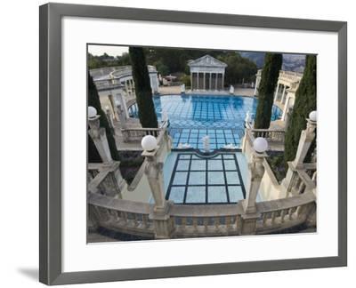 Neptune Pool at Hearst Castle, San Simeon, California, USA-Rob Tilley-Framed Photographic Print