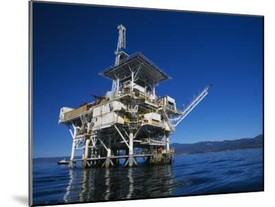Offshore Oil and Gas Rig in the Pacific Ocean-James Forte-Mounted Photographic Print