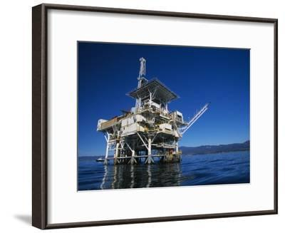 Offshore Oil and Gas Rig in the Pacific Ocean-James Forte-Framed Photographic Print