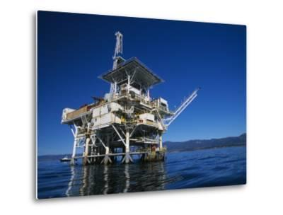Offshore Oil and Gas Rig in the Pacific Ocean-James Forte-Metal Print