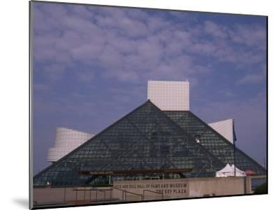 Rock and Roll Hall of Fame in Downtown Cleveland--Mounted Photographic Print