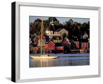 Lunenburg Harbor, an Old German Fishing Village in Nova Scotia-Richard Nowitz-Framed Photographic Print