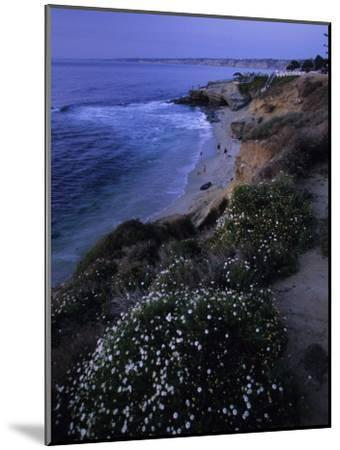 San Diego's Cliff-Lined Pacific Shore at Twilight-Michael Melford-Mounted Photographic Print