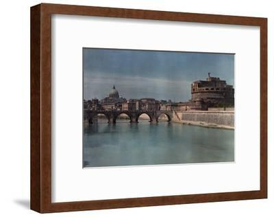 View of Rome from across the Tiber River-Hans Hildenbrand-Framed Photographic Print
