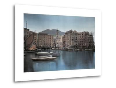 View of Ships at Port in a Small Italian Town-Hans Hildenbrand-Metal Print
