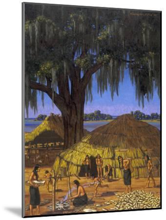 Choctaws in Louisiana Bayou Country Harvest Corn-W. Langdon Kihn-Mounted Photographic Print