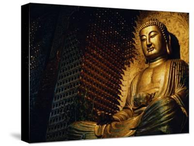 Buddha Found in a Temple in the Buddhist Monastery Foguangshan-xPacifica-Stretched Canvas Print