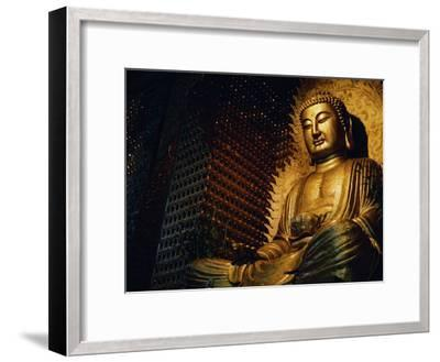 Buddha Found in a Temple in the Buddhist Monastery Foguangshan-xPacifica-Framed Photographic Print