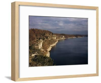 Limestone Bluffs Rim Scenic Lake of the Ozarks-Joseph Baylor Roberts-Framed Photographic Print