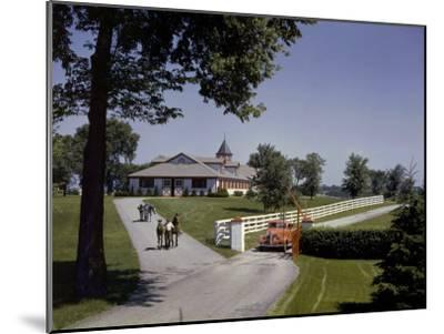 View of the Grounds at Calumet Farm, Where Race Horses are Held-B^ Anthony Stewart-Mounted Photographic Print