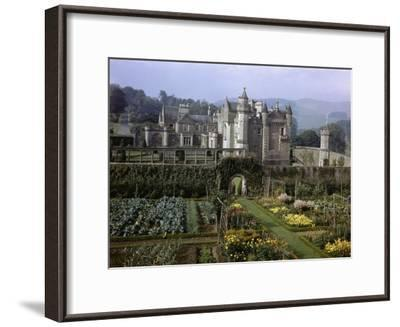 Tourists Walk in Gardens of Abbotsford House-B^ Anthony Stewart-Framed Photographic Print