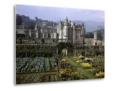Tourists Walk in Gardens of Abbotsford House-B^ Anthony Stewart-Metal Print