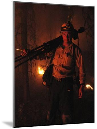 Photographer on Assignment Covering Forest Fires-Mark Thiessen-Mounted Photographic Print