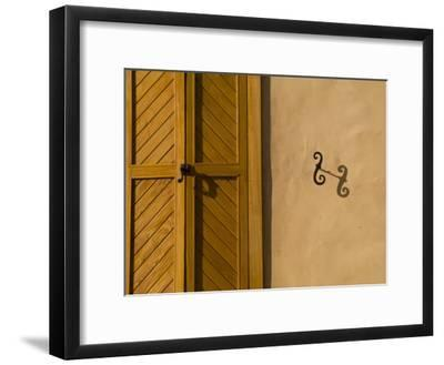 Details of an Adobe House in Santa Fe-Michael S^ Lewis-Framed Photographic Print