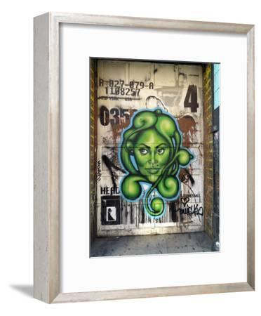Graffiti on the Wall of a Building in New York's Lower East Side-xPacifica-Framed Photographic Print