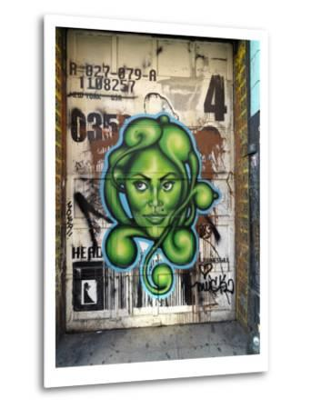 Graffiti on the Wall of a Building in New York's Lower East Side-xPacifica-Metal Print