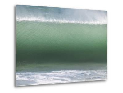 Huge Wave Rolls to Shore-Stacy Gold-Metal Print
