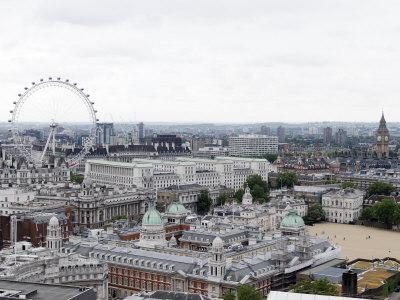 View of the London Skyline Featuring the London Eye-xPacifica-Framed Photographic Print