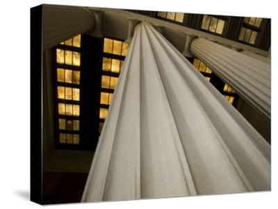 Columns of the Lincoln Memorial-Stacy Gold-Stretched Canvas Print