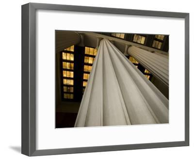 Columns of the Lincoln Memorial-Stacy Gold-Framed Photographic Print