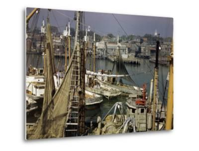 Commercial Fishing Boats of All Sizes Crowd the Town's Busy Harbor-B^ Anthony Stewart-Metal Print