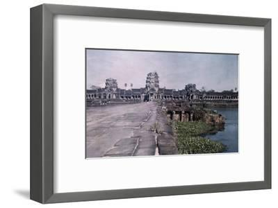 This Image Shows the Ancient Capital of Cambodia, Angkor-Gervais Courtellemont-Framed Photographic Print