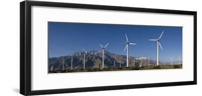 Windmills at San Gorgonia Pass, in Palms Springs, California-Greg Dale-Framed Photographic Print