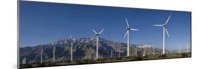 Windmills at San Gorgonia Pass, in Palms Springs, California-Greg Dale-Mounted Photographic Print