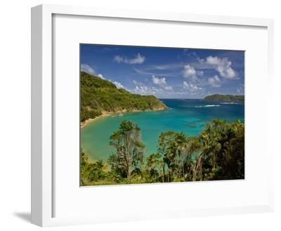View across Blue Water Bay Toward the Caribbean Sea-Michael Melford-Framed Photographic Print