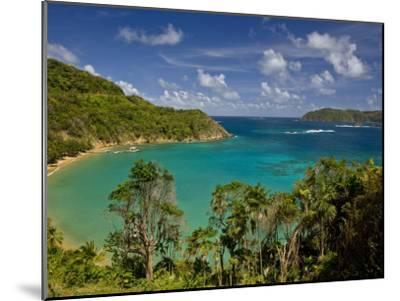 View across Blue Water Bay Toward the Caribbean Sea-Michael Melford-Mounted Photographic Print