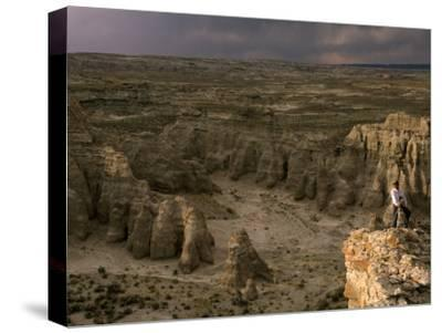 Natural Gas Drilling Threatens the Rock Formations of Adobe Town-Joel Sartore-Stretched Canvas Print