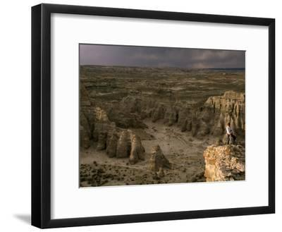 Natural Gas Drilling Threatens the Rock Formations of Adobe Town-Joel Sartore-Framed Photographic Print