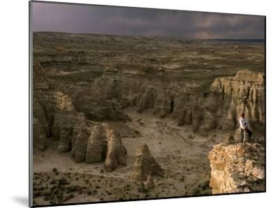 Natural Gas Drilling Threatens the Rock Formations of Adobe Town-Joel Sartore-Mounted Photographic Print
