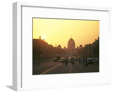 Capital Building in New Delhi, India, at Sunset-xPacifica-Framed Photographic Print