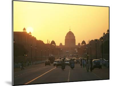 Capital Building in New Delhi, India, at Sunset-xPacifica-Mounted Photographic Print