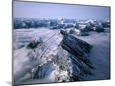 Aerial View of Montana's Rocky Mountain Front-Joel Sartore-Mounted Photographic Print