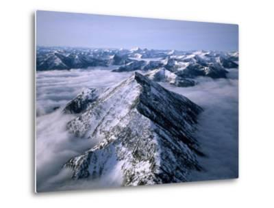 Aerial View of Montana's Rocky Mountain Front-Joel Sartore-Metal Print