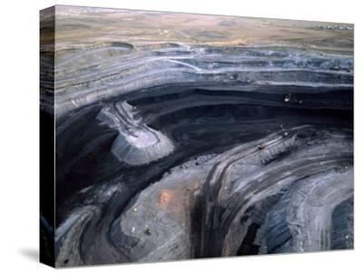 Aerial View of a Non Lignite Coal Strip Mine-Joel Sartore-Stretched Canvas Print
