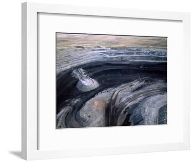 Aerial View of a Non Lignite Coal Strip Mine-Joel Sartore-Framed Photographic Print