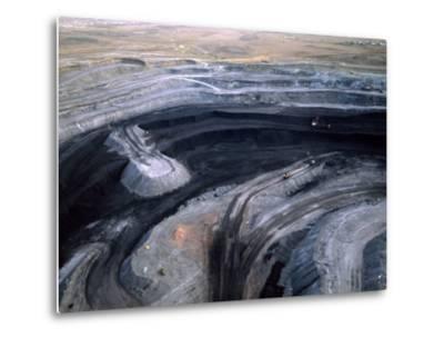 Aerial View of a Non Lignite Coal Strip Mine-Joel Sartore-Metal Print