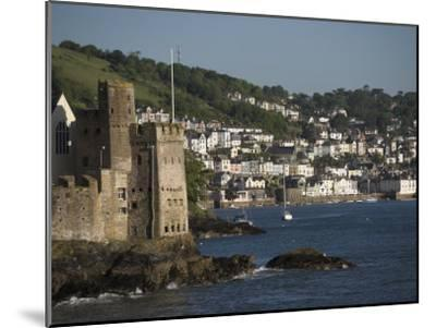 Dartmouth Castle at the Mouth of River Dart, Dartmouth in Background-Keenpress-Mounted Photographic Print