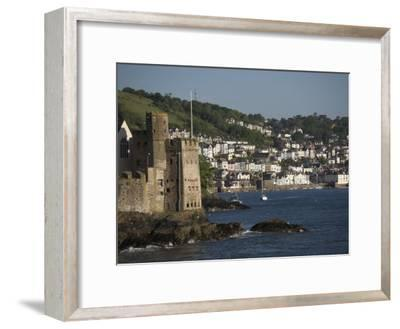 Dartmouth Castle at the Mouth of River Dart, Dartmouth in Background-Keenpress-Framed Photographic Print