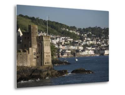 Dartmouth Castle at the Mouth of River Dart, Dartmouth in Background-Keenpress-Metal Print