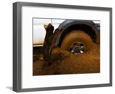 Tire Spinning in Deep Clay Mud-Mattias Klum-Framed Photographic Print