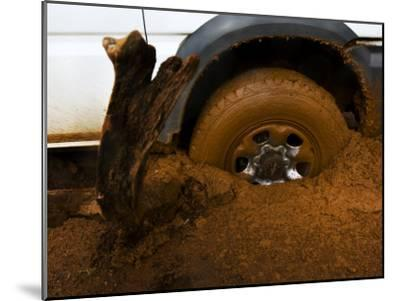 Tire Spinning in Deep Clay Mud-Mattias Klum-Mounted Photographic Print